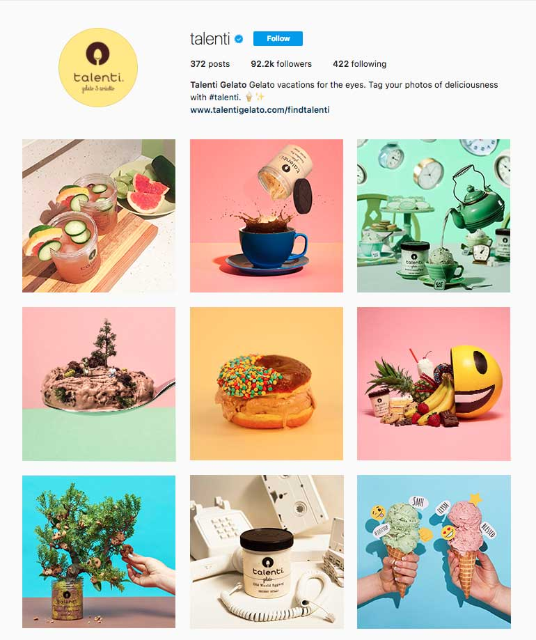 Talenti Instagram Feed